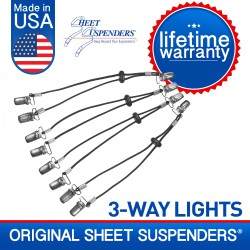 Sheet Suspenders® Lights 3-Way Adjustable Sheet Grippers